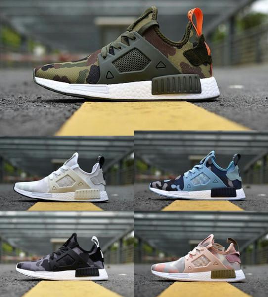 Высокое качество ультра Boost NMD Runner Primeknit PK XR1 камуфляж черный зеленый Повседневная обувь Мужчины Женщины nmds R1 Классические кроссовки Открытый моды