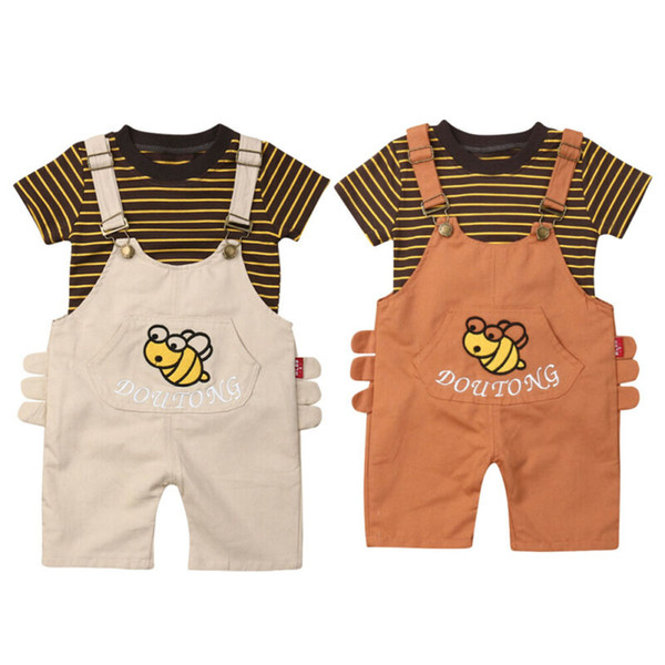 Kids Clothes Casual Striped Short Sleeve Tops+Bib Pants Outfit Summer Children Clothing Boutique Kids Sets Clothing Boys Set Kids Clothes Casual Striped Short Sleeve Tops+Bib Pants Outfit Summer Children Clothing Boutique Kids Sets Clothing Boys Set