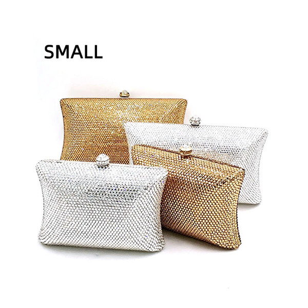 small classical bridal wedding party purses women evening party diamonds full crystal clutches elegant purses (539459757) photo
