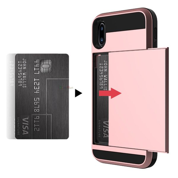 Hybrid armor tpu pc wallet  lide card ca e for iphone 2019 xr x  max x 8 7 6  am ung  6  7  8  9  10 5g plu   10e note 9 10 pro a7 a9 2018