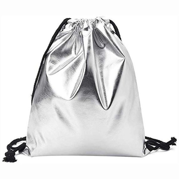 drawstring bag women fashion solid drawstring backpack pouch pull string bag tote purse worek plecak sznurek mochila feminina b (547491557) photo