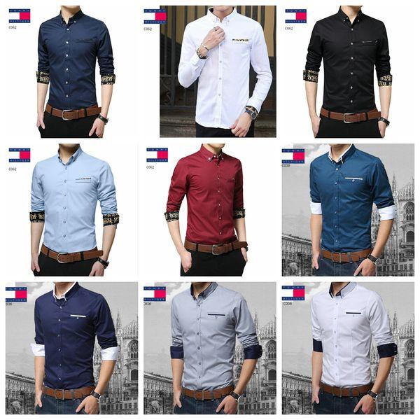Luxury mens designer long sleeve shirts firmate business dress shirts fashion casual brand shirt print slim shirt homme button up 193 фото