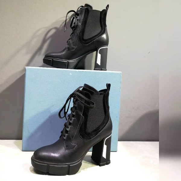 New tar trail ankle boot high heeled heel hoe bootie leather boot with patche wedge ankle boot 1a3 wy 1a2y7u 1a2y89
