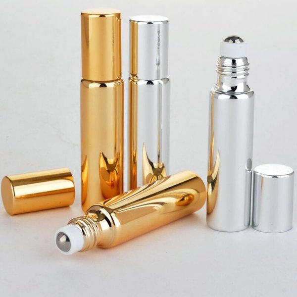 10ml uv roll on bottle gold and ilver e ential oil teel metal roller ball fragrance perfume lx7536