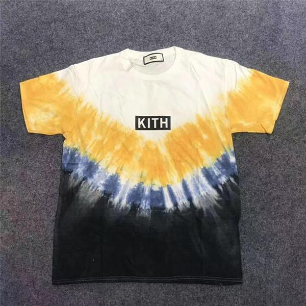 Tie dyeing KITH футболка Мужчины Женщины Футболка высшего качества Мужская футболка Kith фото
