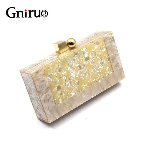 new fashion brand acrylic bags luxury women marble geometric evening bags clutches cute purses handbags party prom evening bag (478238268) photo