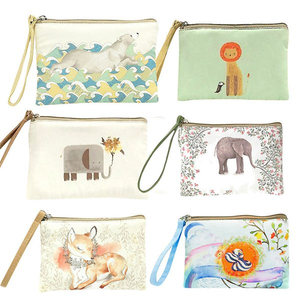 sleeper #p52 cute canvas cash coin purse make up bag cellphone bag with handle wallet zipper unique design ing (481731297) photo