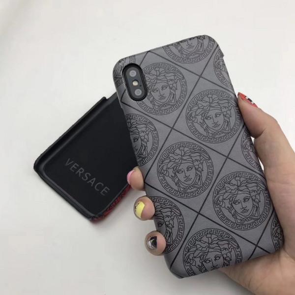 Люксовый Бренд ИСКУССТВЕННАЯ Кожа Дизайнерские Чехлы для Телефонов для IPhone X XS MAX XR 6 S 7 8 Plus Задняя Крышка Классический чехол для телефона бесплатно DHL
