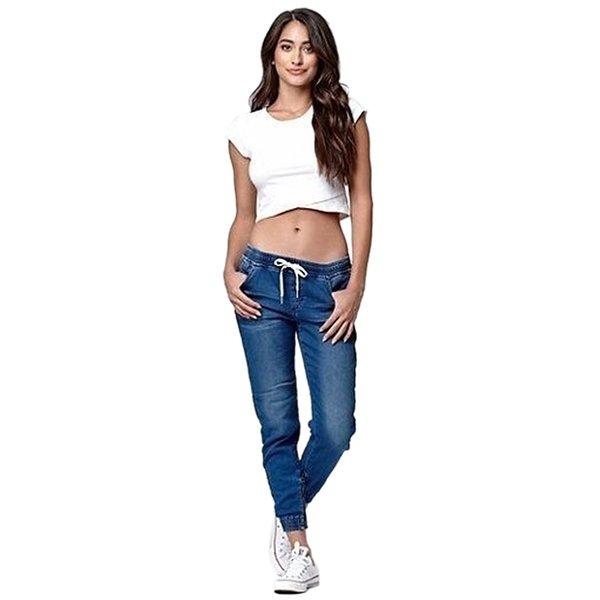 AprilGrass дизайнер бренда случайные штаны эластичный сексуальный узкие карандаш джинсы для женщины леггинсы высокой талией женские джинсовые брюки на завязках фото
