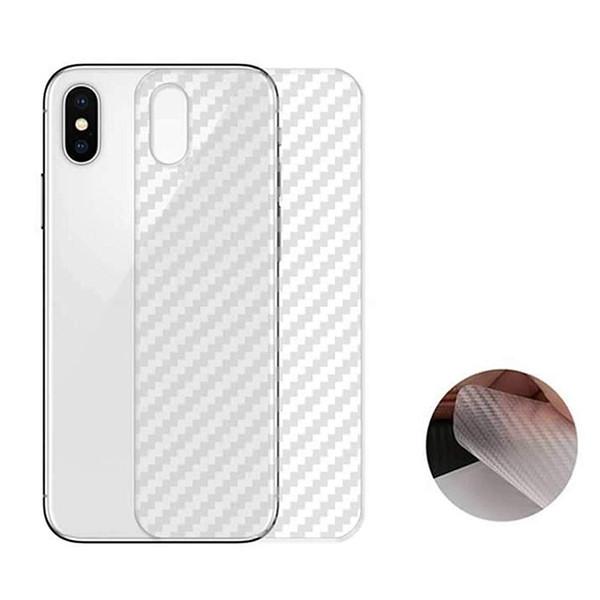 Для iPhone Xs Макс Xr X S 6 6S 7 8 Plus Углеродного волокна Защитная задняя пленка Прозрачный фото