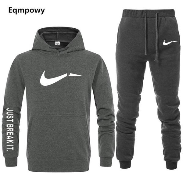 Men's Tracksuit 2 sets of new fashion jacket sportswear men's sweatpants hoodies spring and autumn  hoodies pants