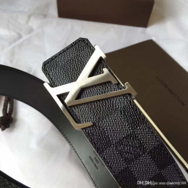 2019 top designer brand belt business men's classic flower belt handmade high quality 125 cm casual belt jeans and original box