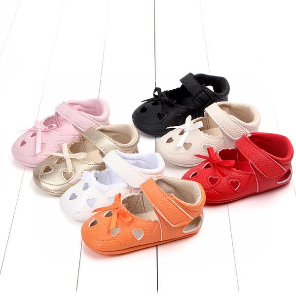 0-12 Months Baby Shoes Girls Cute Summer Sandals Soft Bottom Genuine Leather Kids Children Infant Anti-slip Beach Sandals