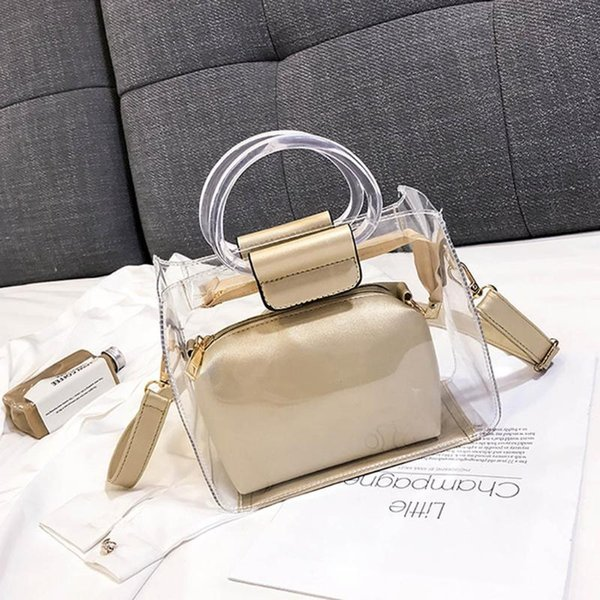 women transparent bag brand pvc clear bag handbags shoulder crossbody messenger phone purse torebka damska #t1g (531116389) photo