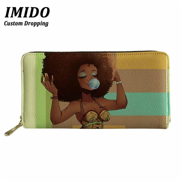 imido african beauty girl women wallet 2019 purse ladies dames portemonnee wallet woman and long purse money bags portfel (513252837) photo