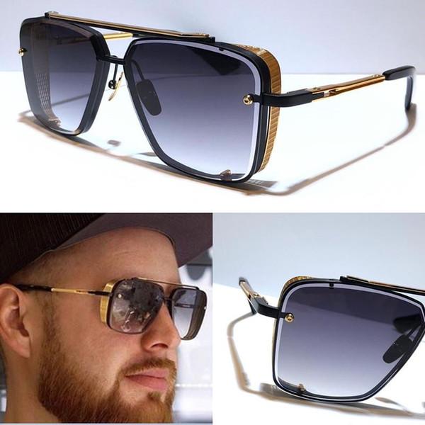 Новый ограниченный выпуск солнцезащитных очков мужчины дизайнер металл старинные солнцезащитные очки Мода стиль квадратный бескаркасный УФ 400 объектив с оригинальным case2020 фото