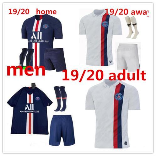 2019 20 new pari occer jer ey kit 19 20 mbappe home away verratti cavani maillot de foot p g urvetement hirt men kit