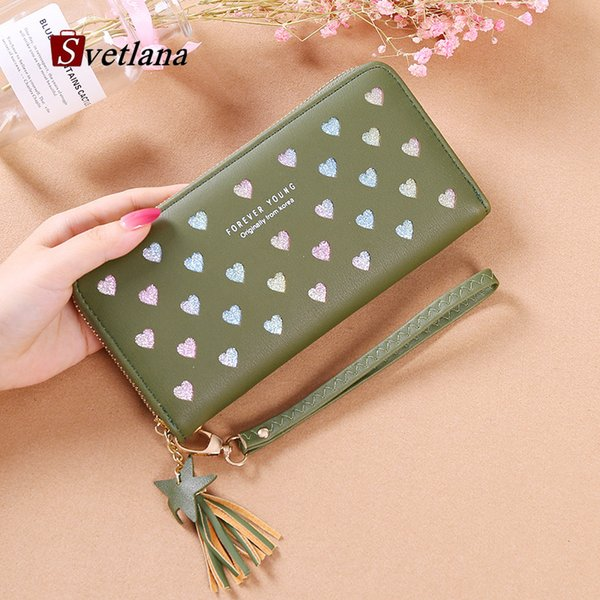 color heart hollow out womens wallets and purses long purse dropshipping 2019 (482286545) photo