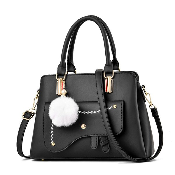 2020 fashion women tote purse handbags with hairball handles handbags women bags casual crossbody bags (523099816) photo