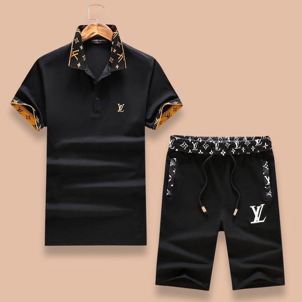 Youth ummer hort leeved t hirt et for men korean ver ion of the trend ca ual ca ual with five point pant port wear two et