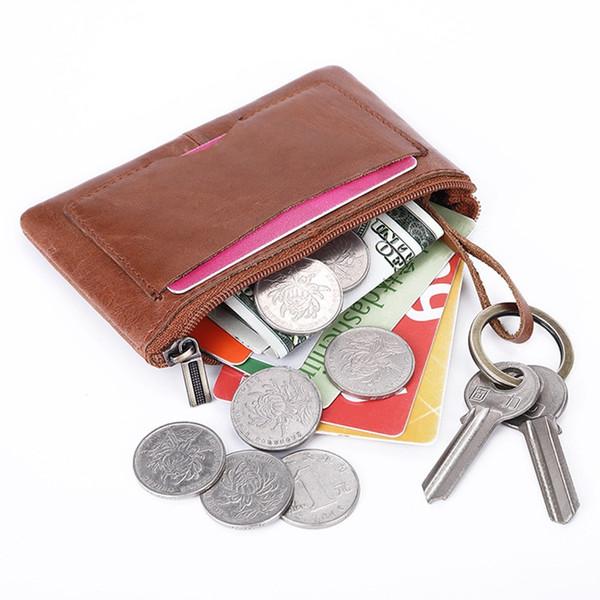 2020 fashion new genuine leather retro coin purse id card multi card holder handbag purse clutch (520623593) photo