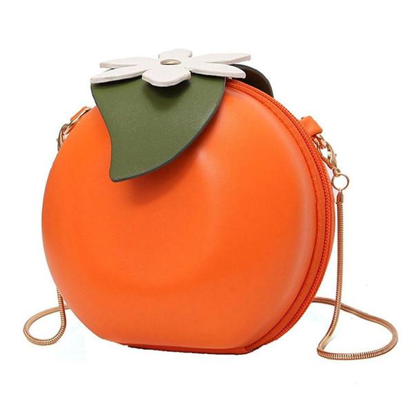 fruit orange shaped women pu leather clutch purse cross body bag (486795726) photo