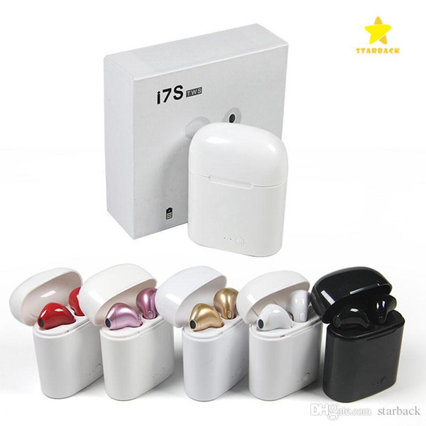 I7  tw  wirele   bluetooth headphone  earbud  earphone  with charging box twin  mini bluetooth earbud  for iphone x io  android with retail