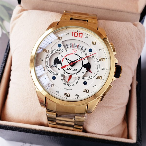 2019 new fashion TAG sports brand watch stainless steel with multi-function automatic date men's watch