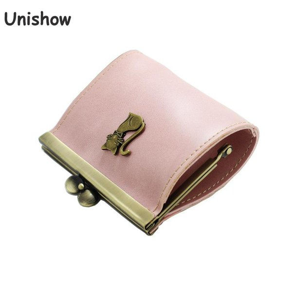 unishow mini cat wallet women small lock coin purse brand designer pu leather coin pocket little kids girl purse (438500908) photo