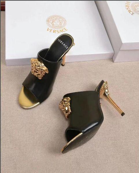 Весенняя коллекция 2018 с принтом Rose High Heels, цветочные сандалии с розовым скульптурным каблуком, черные женские туфли Charmeuse 35-41-Нет