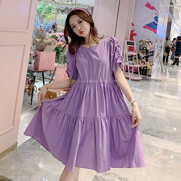 0217-2# Maternity Clothes Nursing Dress Summer Loose Stylish Dress for Pregnant Women Pregnancy Clothes Breastfeeding