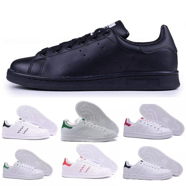 2019 New Arrivlas designers High Quality Newsest Stan Shoes Fashion Brand Smith Leather Men Women Classic Flats Casual Shoes 36-44