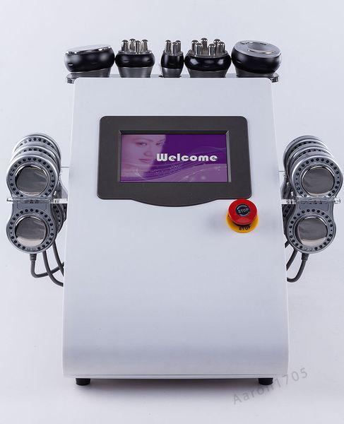 6 в 1 Портативный форма тела микротоковой РФ Вакуумная Кавитация машина для похудения по уходу за кожей красоты машина фото