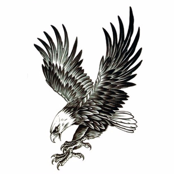 2Pcs Cool Eagle Tattoo for Men Waterproof Temporary Tattoos Water Transfer Stickers On The Body Fake Tatoo Sleeves Fake Tattoos (beautys8) Modesto Buy goods
