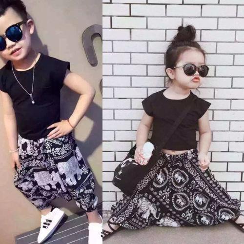 2019 летний стиль девушки одежда Рубашки + шаровары 2шт девушки одежда наборы мода девочка одежда Детская одежда наборы фото