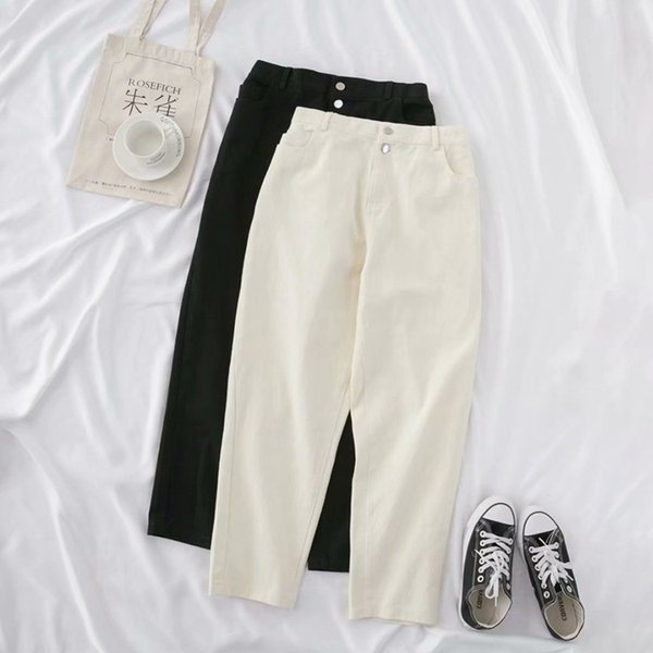 Plus Size Casual Jeans 2019 Autumn Women Fashion Loose Stretch denim Ankle-Length Harem Pants T55-7106