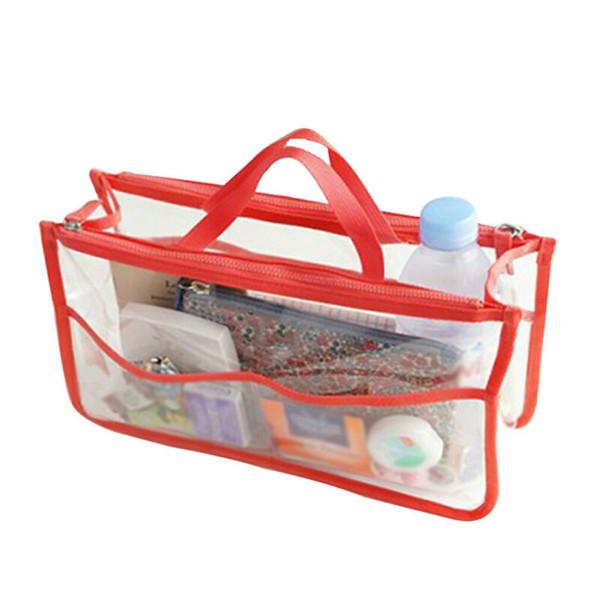 women transparent handbag shoulder bag clear jelly purse clutch plastic (478238187) photo
