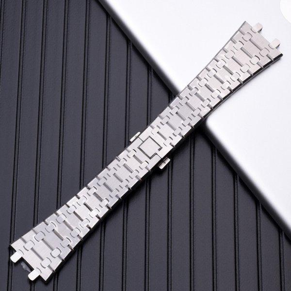 Ремешок для часов 21 мм 26 мм Серебро Мужчины женщины Полный Браслет Из Нержавеющей фото