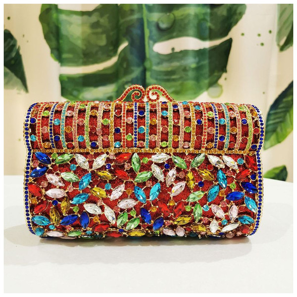 clutch purse gold crystal women clutch bag ladies rhinestone party shoulder bag crystal purse evening lady (548533638) photo