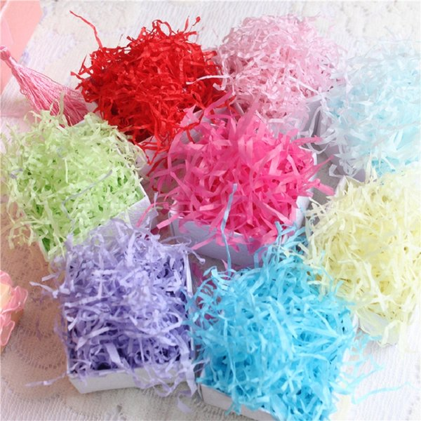 50g/bag shredded crinkle paper paper confetti diy dry straw gifts box filling material wedding birthday party decoration (497395316) photo