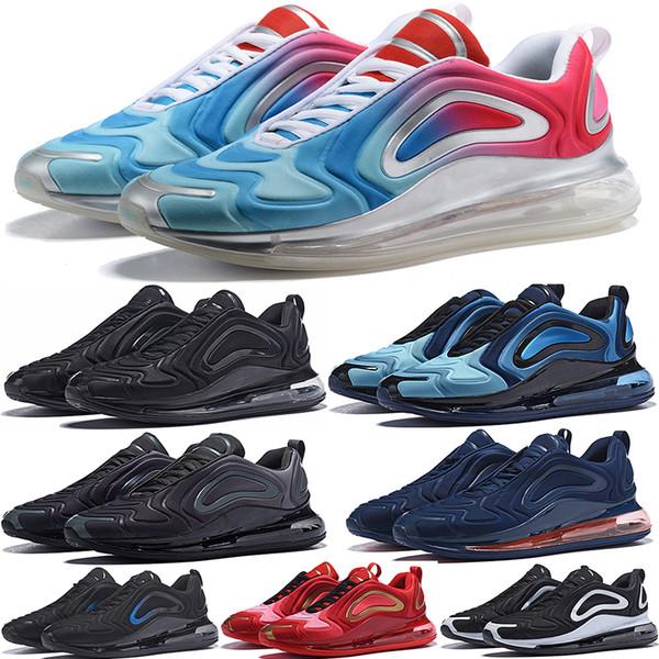 720 Flair Cushion 2019 Мужские дизайнерские кроссовки Triple Black Женские спортивные кроссовки