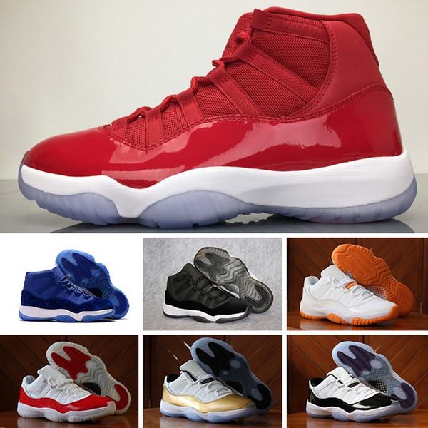 Nike Air Jordan 11 Retro Air 11 XI 11s Platinum Tint Мужская обувь Дизайнер кепки и платья Пром Ночной спортзал Red Barons Concord 45 Cool Grey мужские спортивные