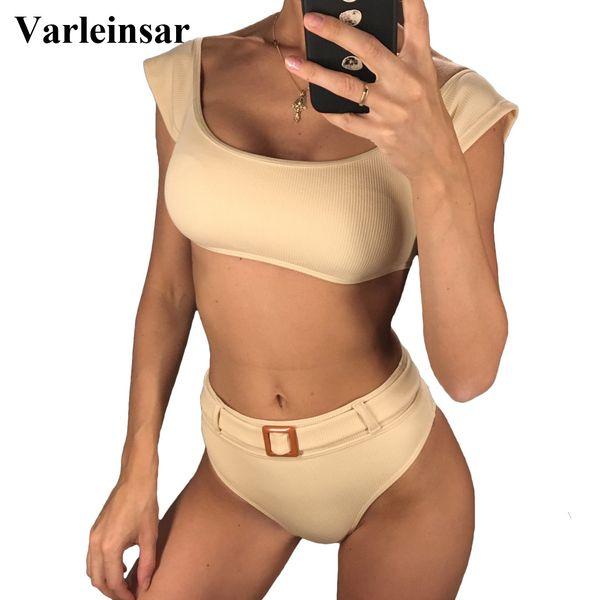 short_sleeve_high_waist_bikini_2019_female_swimsuit_women_swimwear_two-pieces_bikini_set_ribbed_bather_bathing_suit_swim_v1039