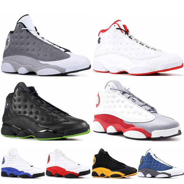 2019 новые мужские баскетбольные кроссовки 13s Hyper Royal Bred Grey True Red История полета DMP со скидкой Спортивная обувь кроссовки Черный кот