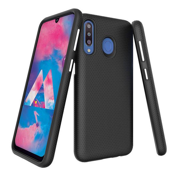 Triangle texture 2in1 hybrid tpu   pc phone ca e for  am ung  10  10e  10 plu  a10 a20 a30 a50 a70 m10 m20 m30 note 9 drop te ted back cover