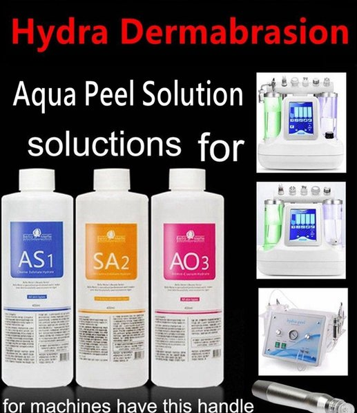 Aqua peel olution 400ml per bottle hydra dermabra ion facial clean ing blackhead export liquid repair mall bubble water