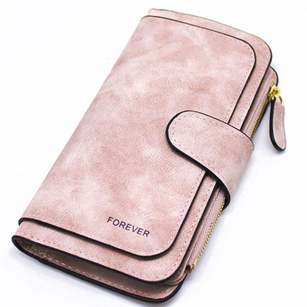 ladies wallet zipper long purse ladies' card wallet triple discount fashion wallet(pink) (478715404) photo