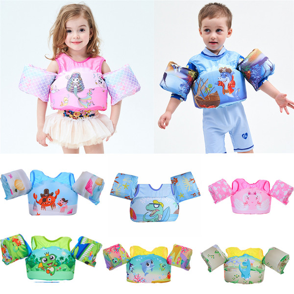 2-6 year old baby swim rings foam cartoon baby arm ring life jacket vest swim ring puddle jumper child for swimming water sports
