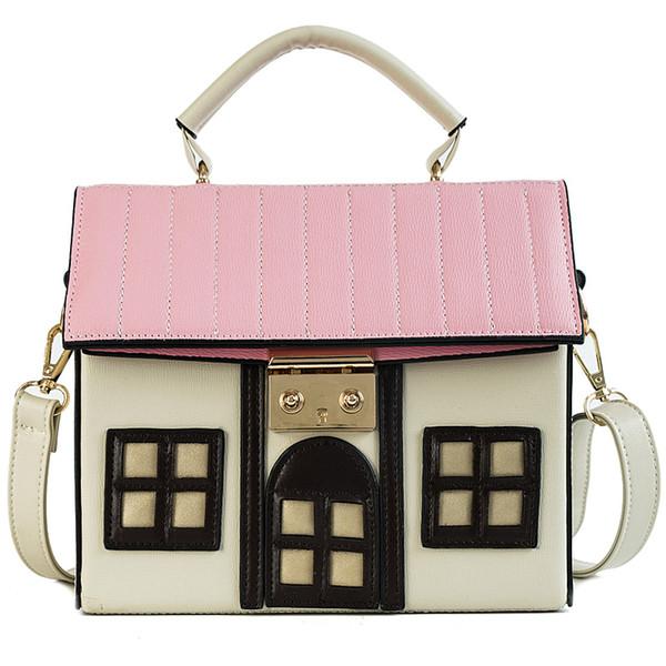 celebrity lady hand bag pink beige luxury handbags women bags designer 2018 new unique lolita novelty girls handbag lock purses (519901971) photo