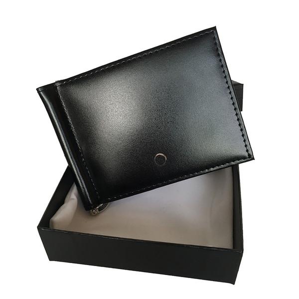 Европейские и американские популярные бумажник мужской кожаный короткий клип ул фото